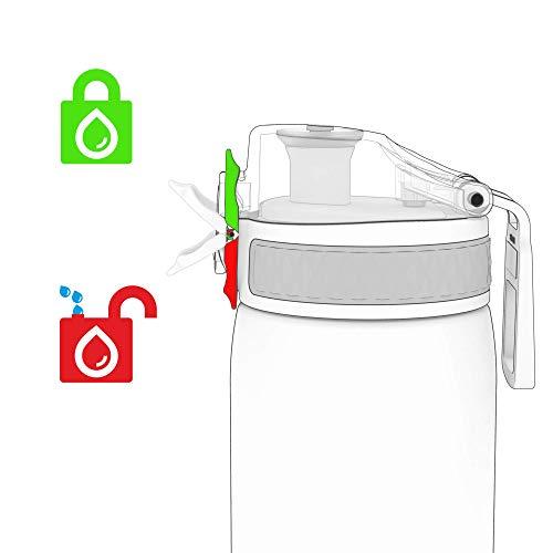 Ion8 Leak Proof Kids' Water Bottle, BPA Free, 400ml / 13oz, Unicorns