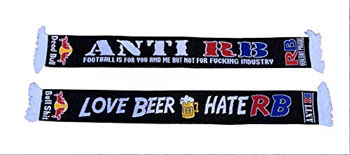 ANTI RB FANSCHAL FAN SCHAL FAN SCARF - LOVE BEER --- HATE RB