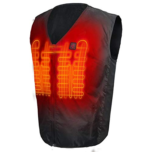 Gerbing 7V Rechargeable Battery Heated Vest Liner for Men/Women – Electric Body Warmer Vest for Winter Outdoor Walking, Hiking, Motorcycle Riding, Hunting, Working – Black