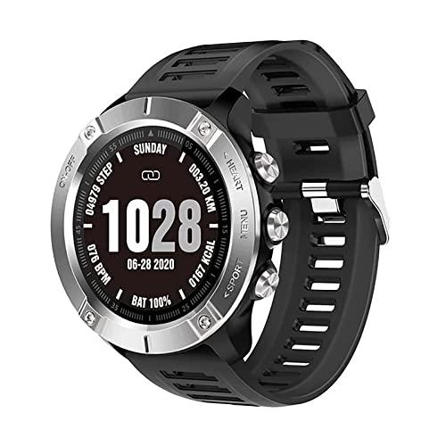 XYZK Reloj inteligente para hombre con esfigmomanómetro y monitor de frecuencia cardíaca IP68 impermeable Bluetooth Actividad Tracker Smart Watch iOS Android (B)