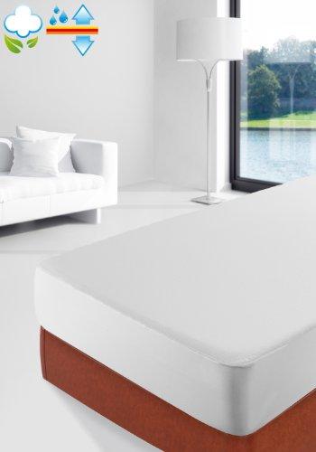 Savel, Proteggi Materasso Mollettone 100% Cotone Pettinato, Impermeabile e Traspirante. Matrimoniale (160x200cm)