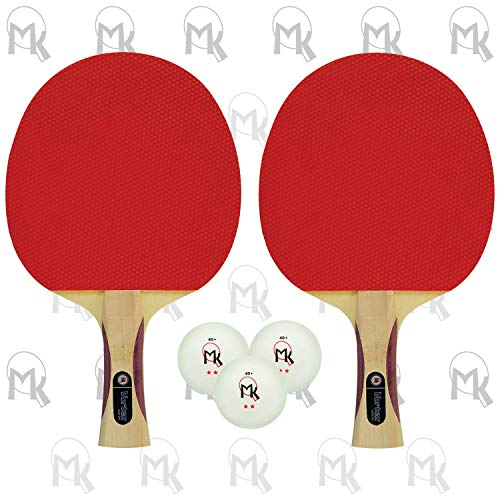 Read About Martin Kilpatrick Vortex Table Tennis Racket 2-Player Set | Pips-Out with Sponge | Red & ...