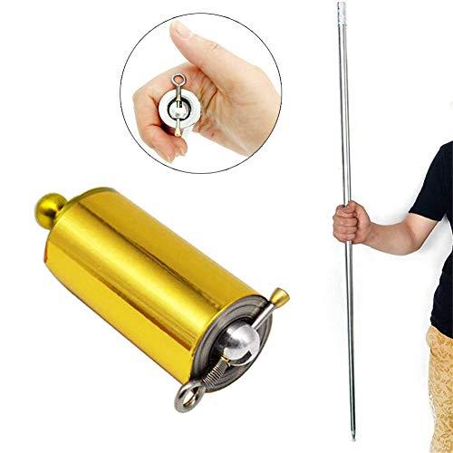 DZANS Magic Pocket Bo Staff Bastone Telescopico per Arti Marziali Portatile per Oggetti di Scena Magici Professionali (110cm, Golden)