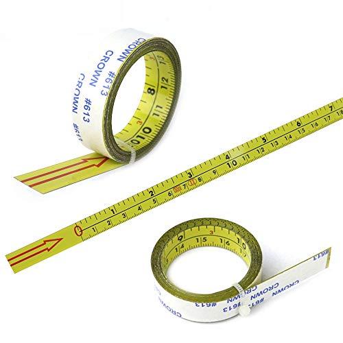 Regla métrica autoadhesiva con cinta métrica de riel oblicuo, 0-10 m, 5 tamaños diferentes (0-4 m)