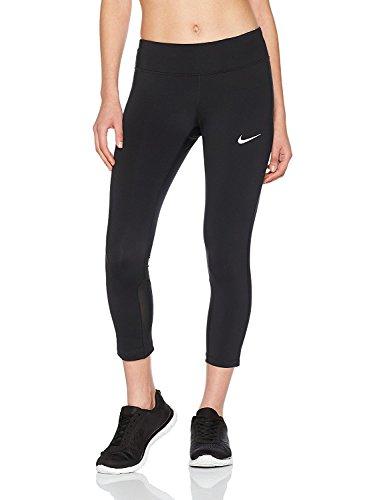 Nike Women's Power Epic Run Cropped Pants Running Tights (Medium, Black)