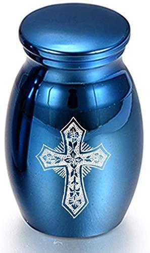 NQBY Urnas 12 Estilos Cenizas Mini Urna de cremación Cenizas de Acero Inoxidable Recuerdo Soporte para Cenizas