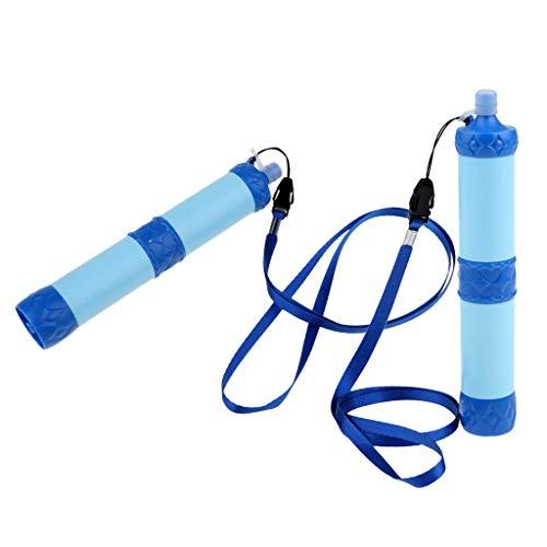 perfeclan Satz Von 2 Camping Wandern Notfall Suvival Wasserfilter Reinigungsstrohhalme