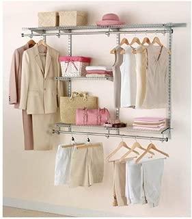 Rubbermaid Configurations Closet Kits, 3-6 ft., Titanium (FG3H1102TITNM) (Renewed)