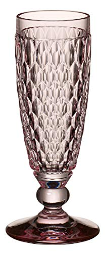 Villeroy & Boch Boston Coloured Sektglas Rose, Kristallglas, 163mm