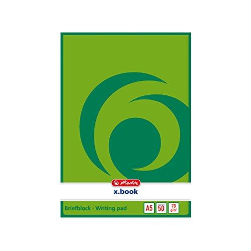 5x Herlitz Briefblock/Schreibblock/DIN A5 / blanco