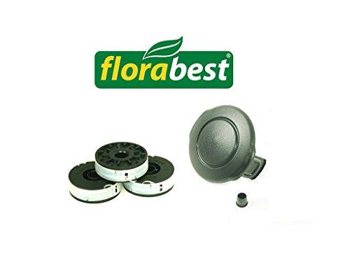 Florabest Set 3 Spulen + 1 Haube Grizzly ERT 450/8 + ERT 530R FRT 430 FRT 450A1 FRT 430/10 (!!!Passt Nicht FRT 450B2 & FRT 500/8!!!)