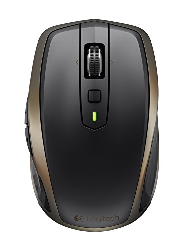 Logitech MX Anywhere 2 Wireless Mobile Mouse – Track on Any Surface, Bluetooth or USB Connection, Easy-Switch up to 3 Devices, Hyper-fast Scrolling