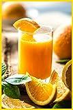 Fresh Orange Juice Notebook: Oranges Composition Journal, 6' x 9', 110 pages