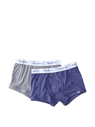 Pepe Jeans London 2tlg. Set Boxershorts Carter blau/grau 9-10 Jahre (140 cm)