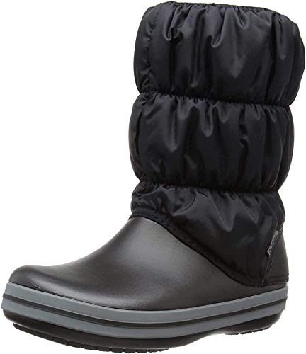 Crocs Winter Puff Boot Women, Damen Schneestiefel, Schwarz (Black/Charcoal), 41/42 EU