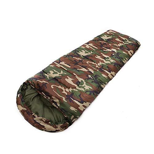 Saco de dormir para 4 estaciones, cálido, saco de dormir, al aire libre, viajes, senderismo, camping, sacos de dormir impermeables, 0,7 KG-camuflaje