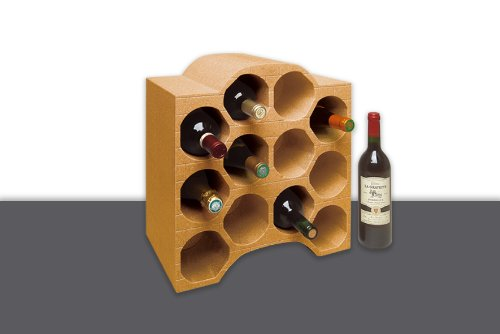 Climapor - Caja para botellas (forma de arco, para 12 botellas de 9 cm de diámetro, 4 unidades), color marrón