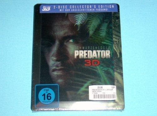 Predator Germany Limited Blu Ray 3D + Blu-Ray Media Market Steelbook Exclusive Edition Region Free