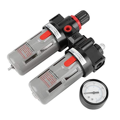 Luchtdruk Compressor Filter PT1/4 Gauge Trap Olie Water Regulator Gereedschap Kit