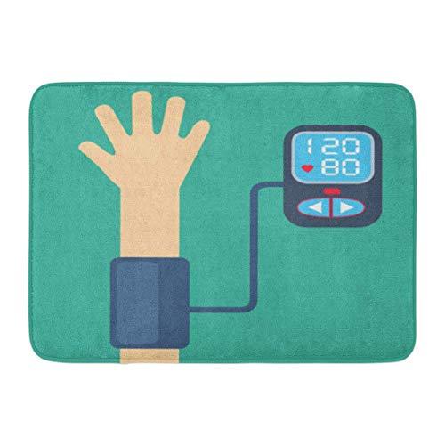 Yilan Badematte Gerät Rot Check Bluthochdruck Konzept Messung Weiß Niedrig Infografik Badezimmer Dekor Teppich