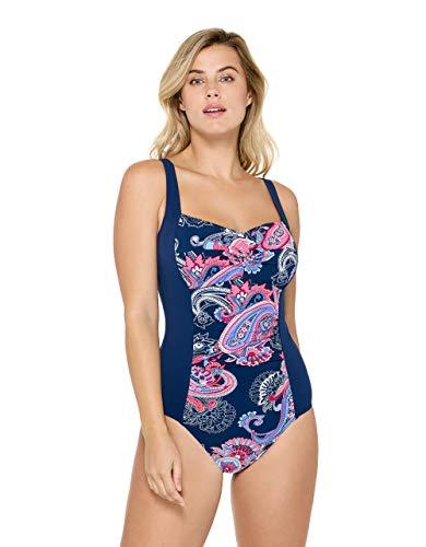 Christina Women's Twist Front Tank One Piece Swimsuit, Sorrente Paisley, 10