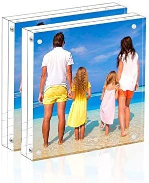 Double Sided Magnetic Acrylic Personalized 5x7 Photo Frame