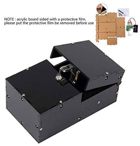 Bujingyun Useless Box Leave Me Alone Maschine komplett montiert in Echtholz braun Black(DIY)