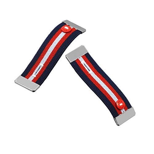 Nato Cuff - Enrolle Sus Mangas con Elegancia - No más dobladillos en Sus Camisas - Soporte para Mangas de Camisa - Puño elástico Antideslizante (Paul)