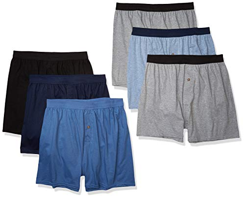 Hanes Men's ComfortSoft Boxer with ComfortFlex Waistbands, 6 Pack Assorted, X-Large