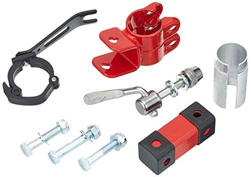 Trail-Gator Passend für Sattelstütze 25, 4-31, 8 mm Ersatzhalter/zweithalter-Set, Rot/Schwarz, One Size