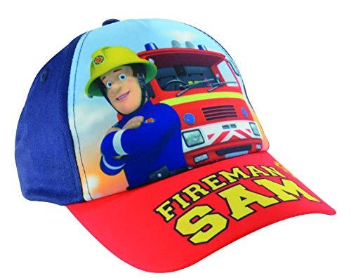 Fireman Sam – Jungen Kinder Cap Sonnenschutz Mütze mit Feuerwehrmann Motiv