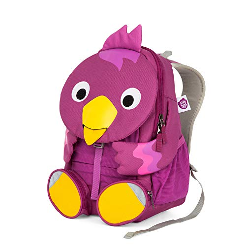 Affenzahn Großer Freund - Kindergartenrucksack für 3-5 Jährige Kinder im Kindergarten und Kinderrucksack für die Kita - Vogel - Lila