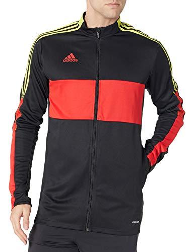 adidas JLE78 Chaqueta, Negro/Rojo Vivo/Regulación, XXL para Hombre