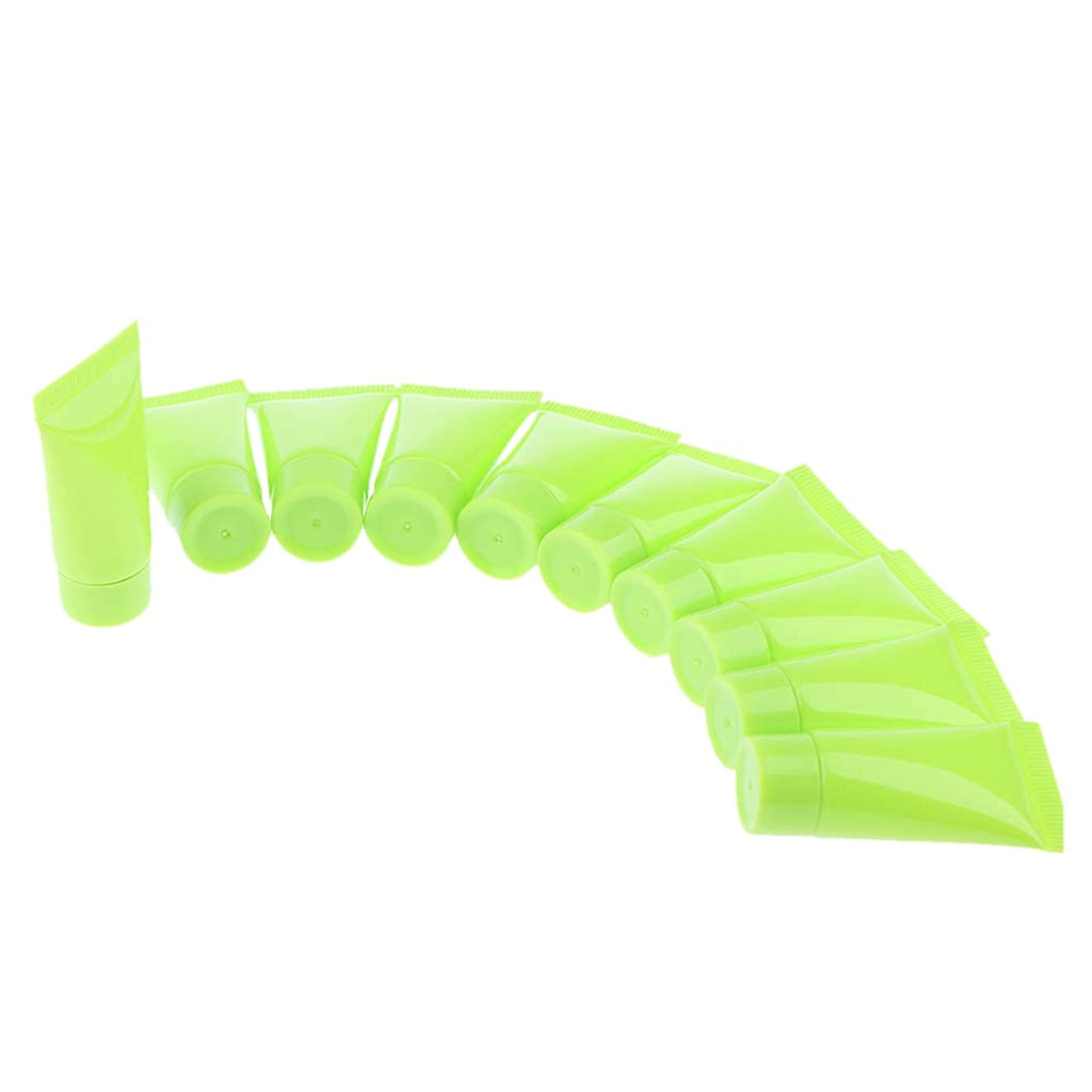ミュージカル消化器雪B Baosity 10個 メイクアップチューブ クリームボトル 旅行 小分け 便利 3色選べ - 緑