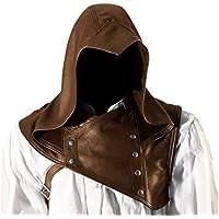 Dcola Capucha Medieval Para Hombre Nueva Capa Gótica De Steampunk Hebilla Con Capucha Top Disfraz De Fiesta De Cosplay De Halloween Para Actuación Escénica(58-60cm,Brown)