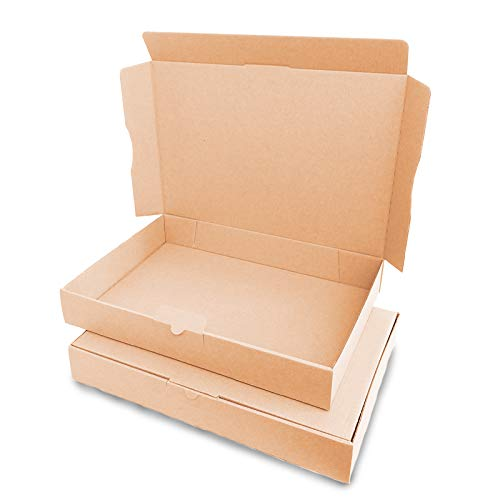 verpacking 100 Maxibriefkartons Versandkartons Faltschachtel Faltkarton Maxibrief 320 x 225 x 50 mm, Braun, MB-4