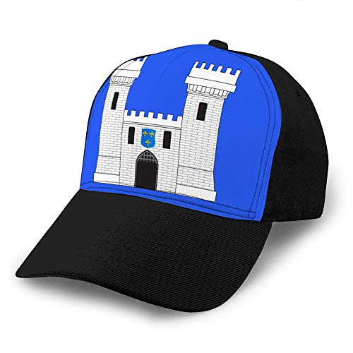 Cotton Baseball Cap Adjustable Trucker Hats Flag of Carcassonne in AUDE in occitanie is a Trucker Hats
