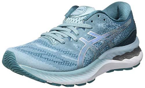 Asics Gel-Nimbus 23, Road Running Shoe Mujer, Smoke Blue/Pure Silver, 39 EU