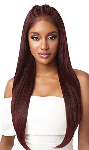 Outre Synthetic Perfect Hair Line 13x6 Lace Front Wig - IMAN (1 Jet Black)