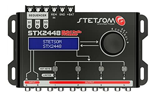 Stetsom STX 2448 DSP Crossover & Equalizer 4 Channel Full Digital Signal Processor (Sequencer)
