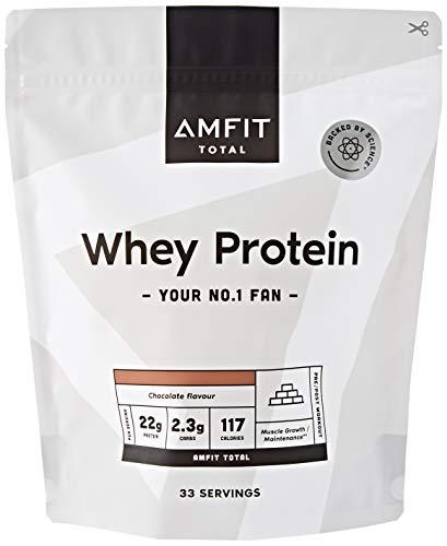 Marchio Amazon - Amfit Nutrition Proteine del Siero di Latte in Polvere 1kg - Cioccolato (precedentemente marchio PBN)