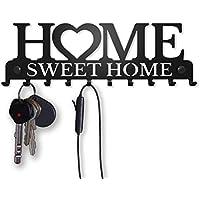 M-KeyCases Colgador de Llaves Pared Colgador Sweet Home (10 Ganchos) Guardallaves Decorativo Ganchos de Metal para Cocina, Puerta de Casa | Portallaves Perchas Organizador | Decoración Vintage