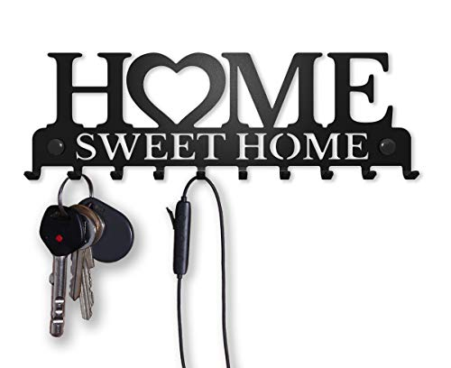 M-KeyCases Colgador de Llaves Pared Colgador Sweet Home (10 Ganchos) Guardallaves Decorativo...