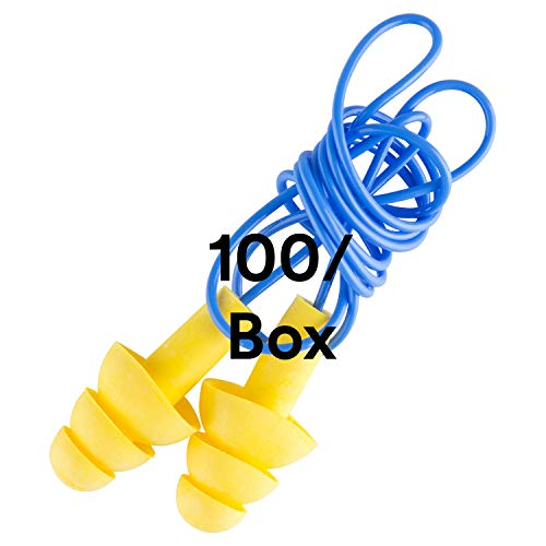 3M - 3404004 340-4004 EAR Ultrafit Corded Earplugs, 100-Pair,Yellow