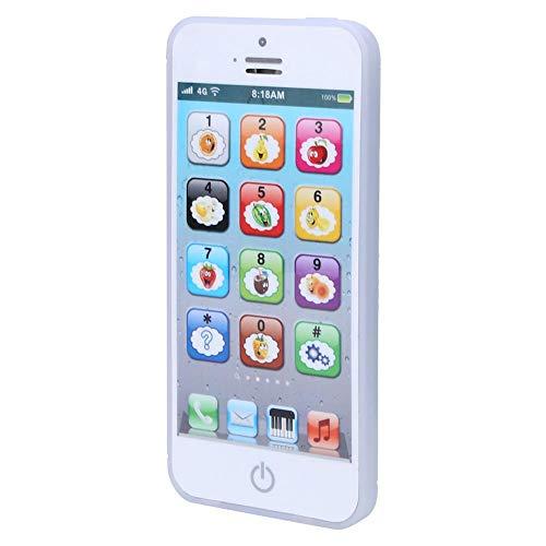 Garosa Baby Phone Toy Máquina de Aprendizaje de inglés Music Light Teléfono móvil Gran Regalo para niños pequeños Niños y niñas(Blanco)