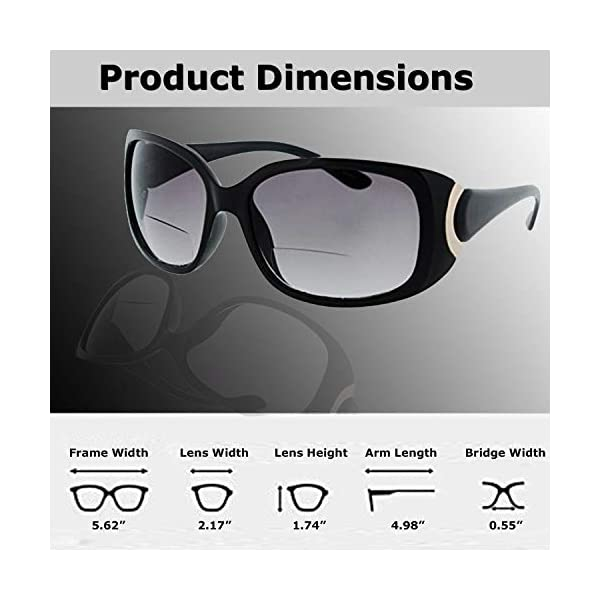 Fiore Bifocal Sunglasses Readers UV400 Protection Outdoor Reading Glasses for Women