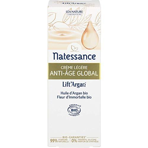 Natessance crème légère Anti-Age Global Lift'Argan - Huile d'argan bio 50 ml