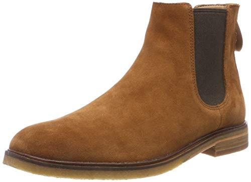 Clarks Herren Clarkdale Gobi Chelsea Boots, Braun (Dark Tan Suede), 46 EU