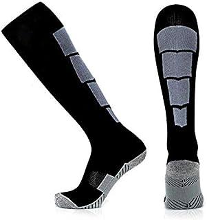Calcetines largos para deportes de invierno, térmicos, de esquí, snowboard, elásticos, de manga larga, para esquí, senderismo gris oscuro