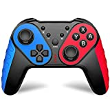 Wireless controller with NFC and Turbo button function, PRO remote control with 6-axis gyroscope/dual vibration/screen capture, compatible with Switch,Switch Lite,Win7+PC& Laptop , Android phone/Tv